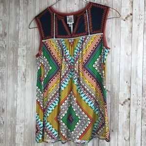 Ivy Jane sleeveless tunic multicolored boho style